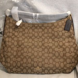 NEW COACH bag khaki/ brown gold